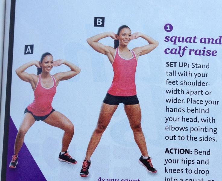 Squat and calf raise | Exercise | Pinterest