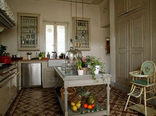 Une cuisine retro  Maison (cuisine)  Pinterest