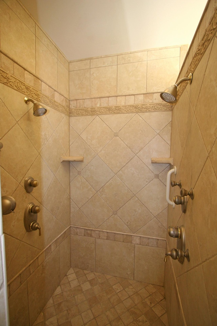 Tiled shower stalls showers pinterest Tile shower stalls