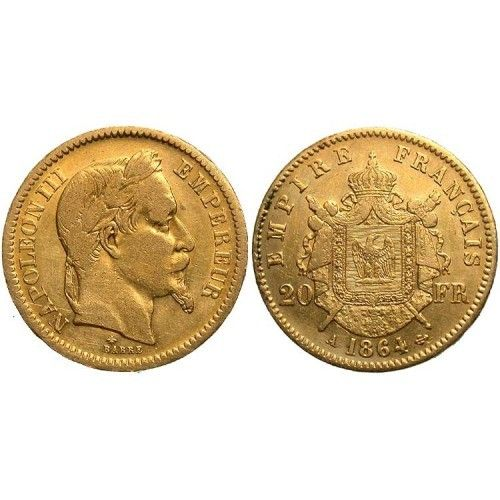 French 20 Franc Gold Coin