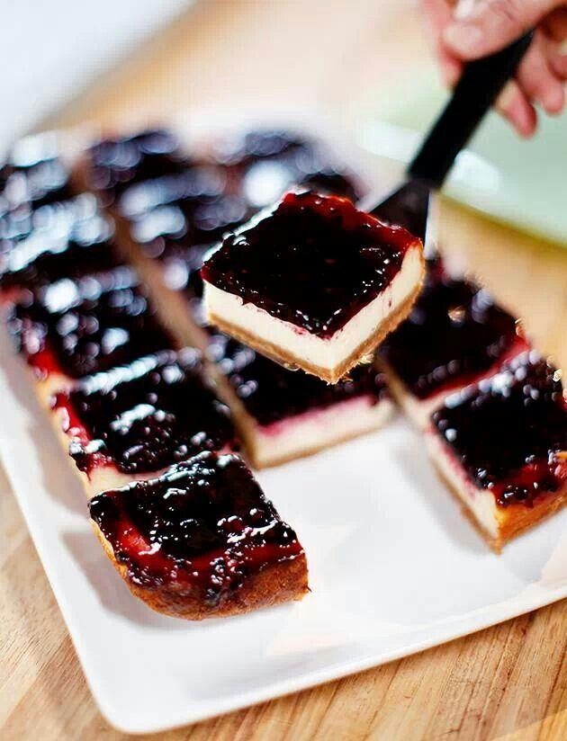 Blackberry cheesecake squares | Favorite Recipes | Pinterest