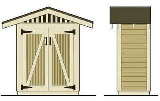 Narrow shed yard pinterest for Narrow storage shed