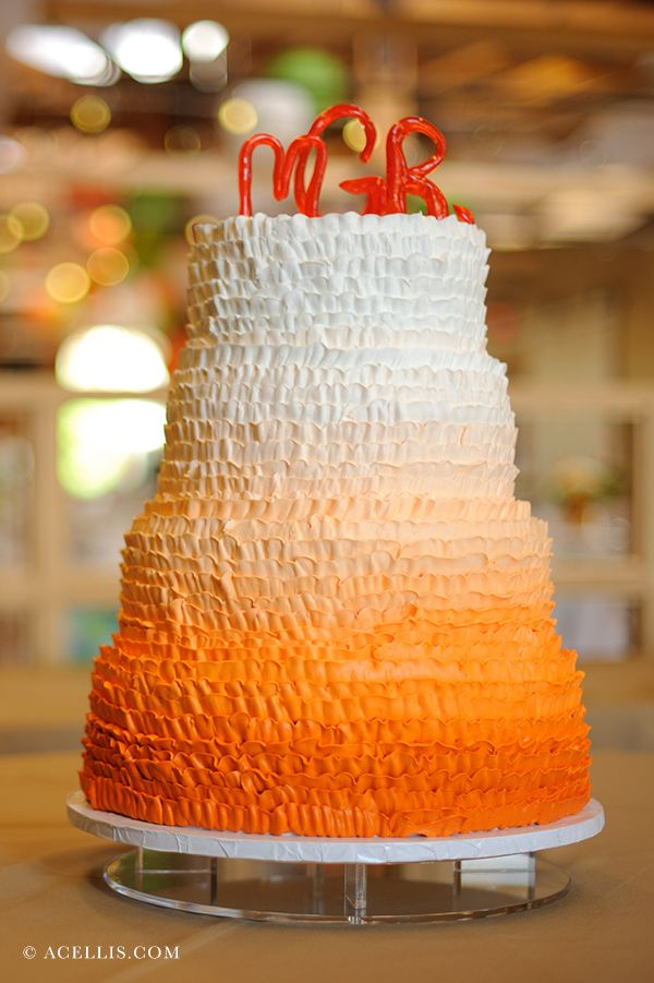 Orange Ombre Wedding Cake | Color My World - Orange | Pinterest