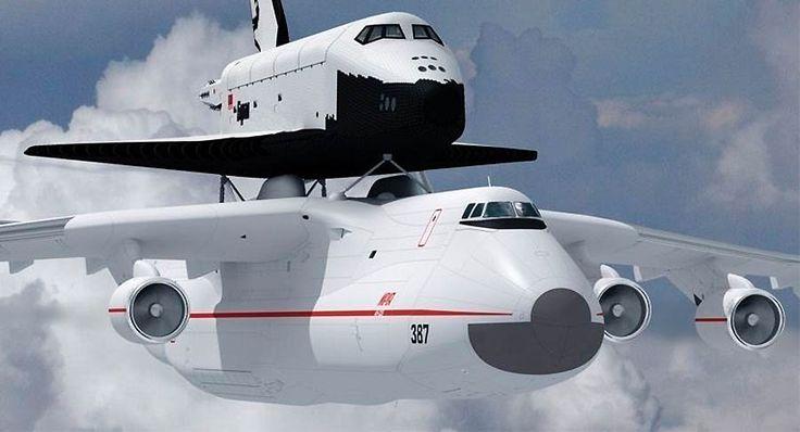 Antonov An-255 & the Buran orbiter | Strange Tech | Pinterest
