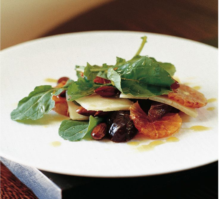 Suzanne Goin's Blood Orange, Date, Parmesan, and Almond Salad Recipe