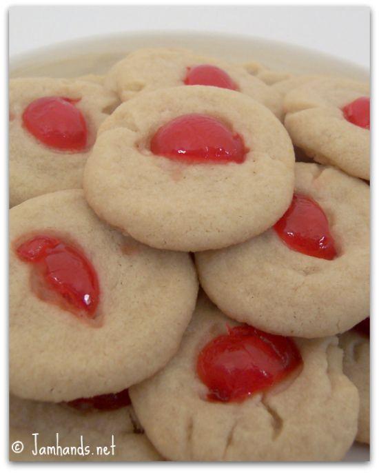 Jam Hands: Cherry Shortbread Cookies | Cookies | Pinterest