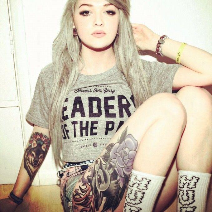 love the wolf tattoo