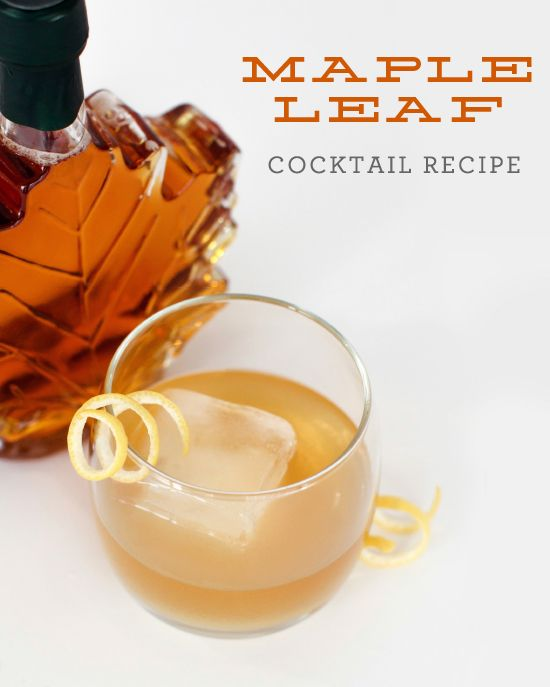 Maple+Leaf+Cocktail Maple Leaf: Winter #Cocktail Recipe | Cocktails ...