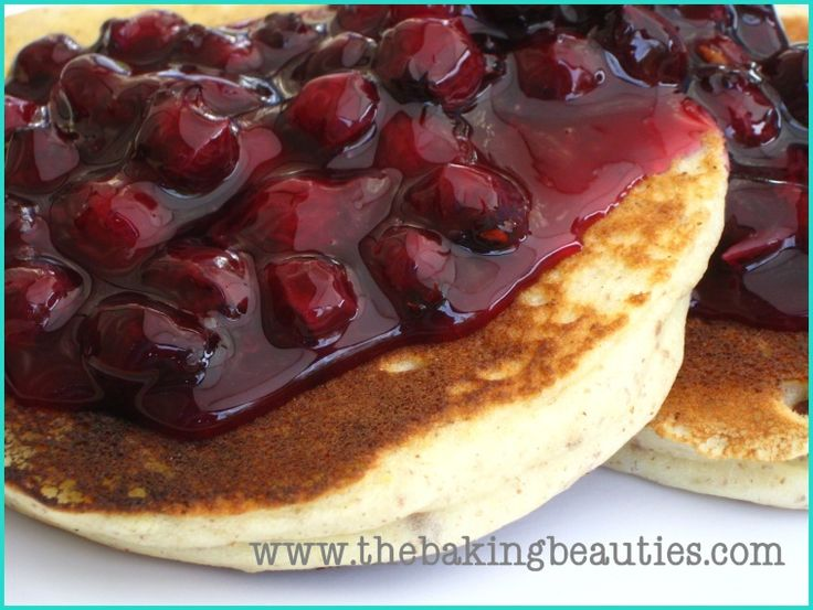 Delicious Gluten-Free Pancakes with Blueberry Sauce - The Baking ...