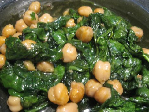 Spinach with chick peas