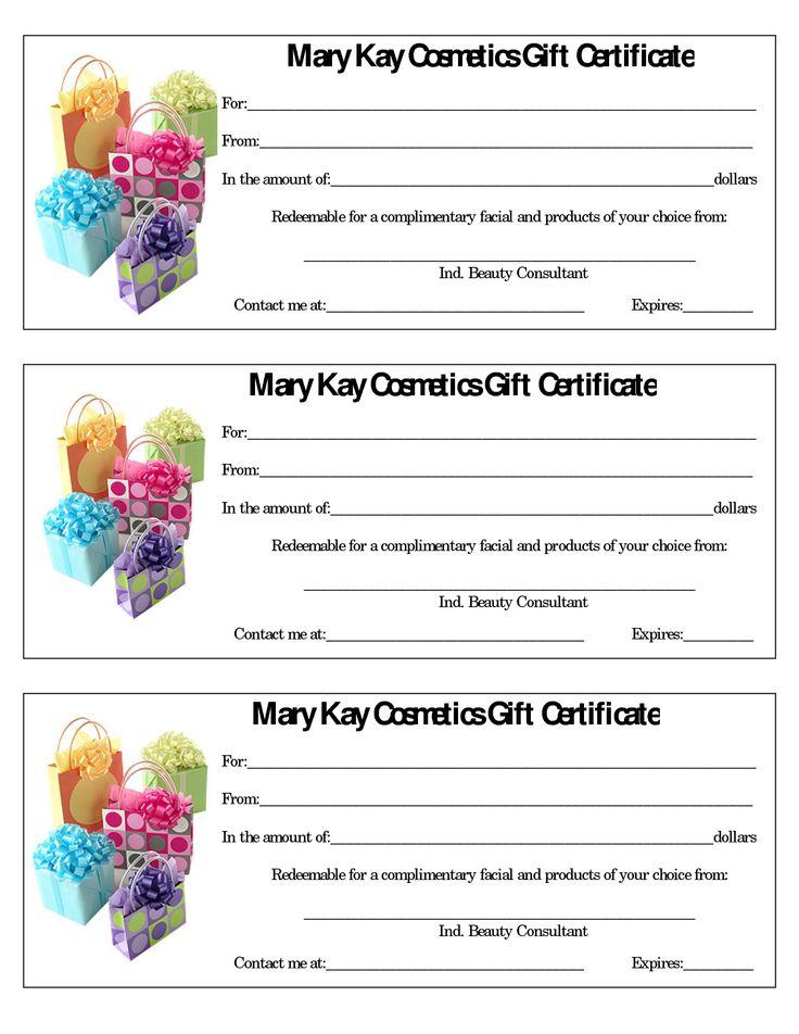 Mary Kay Flyers Mary Kay Assorted Gift Certificates Mary Kay - best of funny gift certificate template