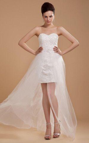 Robe de Mariée en Tulle en Taffetas Satin Extensible Decoration en ...