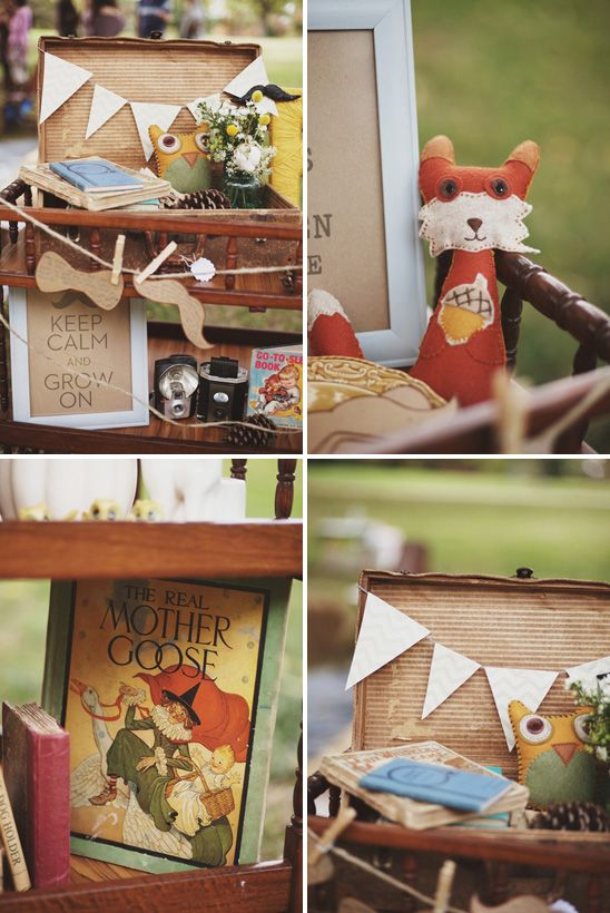 vintage woodland baby shower party decor themes pinterest