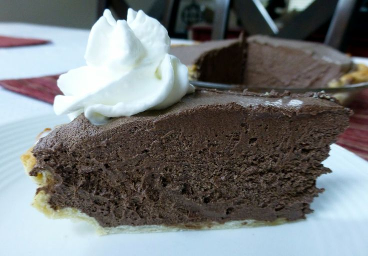 Chocolate French Silk Pie - I use Oreo cookie crust instead!