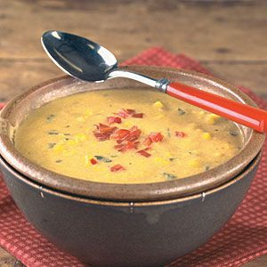 Roasted Pepper and Corn Chowder | MyRecipes.com #Myplate #vegetable