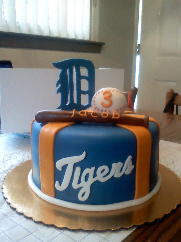 detroit tigers baby shower cake