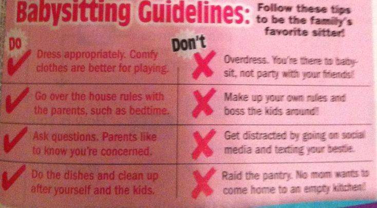 babysitting skills