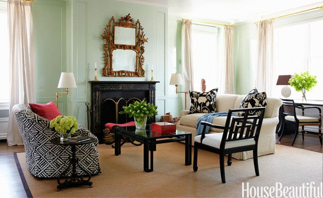 Mint green walls in the living room interior color and for Mint green living room designs