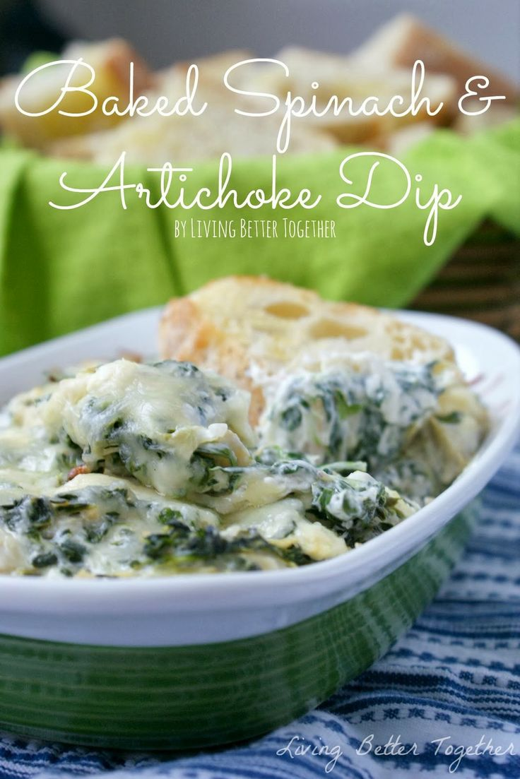 Baked Spinach & Artichoke Dip by Living Better Together for www ...
