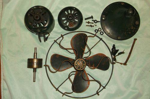 Vintage Fan Switch : General electric antique fan parts art deco cage