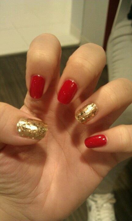 Red And Gold Nail Designs Tumblr red and gold nail art ...