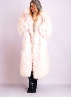 Vintage Pink Mongolian Fur Coat #vintage #fashion #style