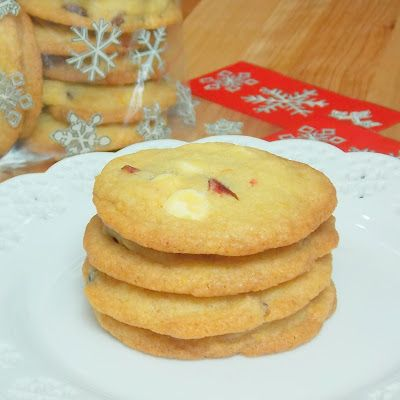 White Chocolate Orange Cranberry Cookies | Recipe