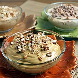 3 Easy Dips: Pumpkin Pie, Caramel, & Peanut Butter. Yummy dips for apples, cookies & pretzels, or spreads on bagels & muffins.