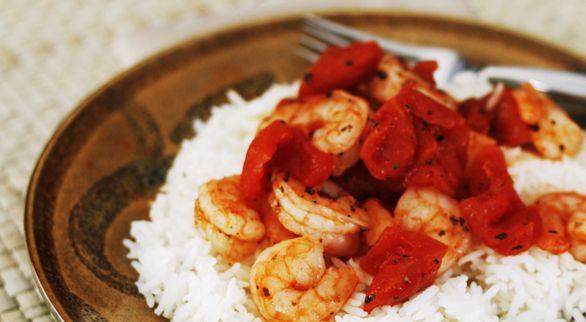 Shrimp and Tomatoes and Shrimp Rice Recipe | Quick Dish Recipes