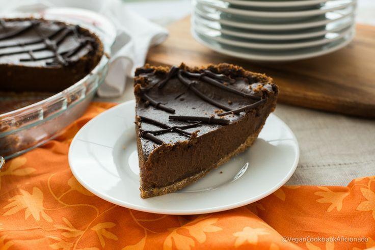 "Vegan Triple Chocolate Pumpkin Pie. | All about ""Food"" | Pinterest"