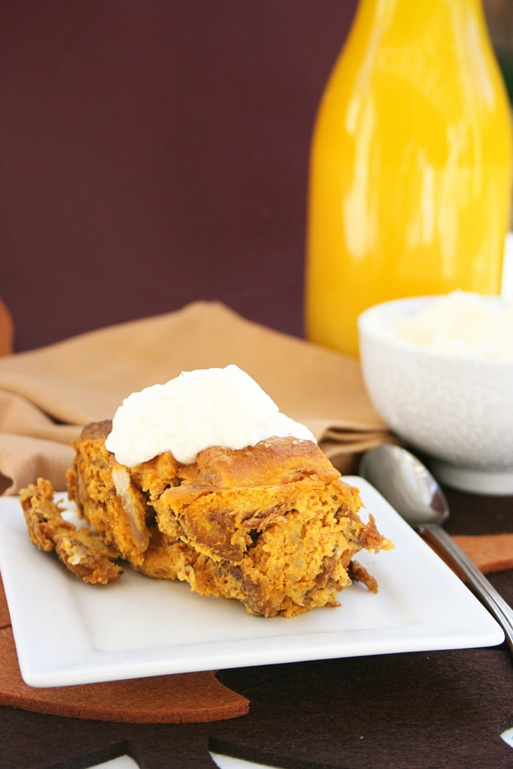 Pumpkin Eggnog Bread Pudding.