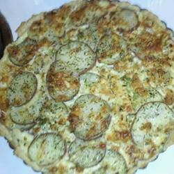 Red Potato and Bleu Cheese Pie Recipe | Food | Pinterest
