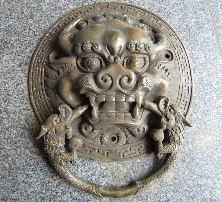 Door knocker chinese dragon head dream house pinterest - Dragon door knockers ...