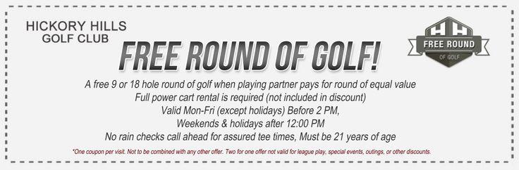 Free golf coupons michigan