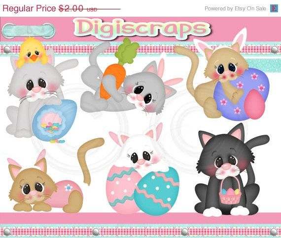 Off furry easter friends digital clip art set by digiscrapsau 1 20