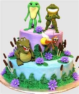Frog and Princess cake