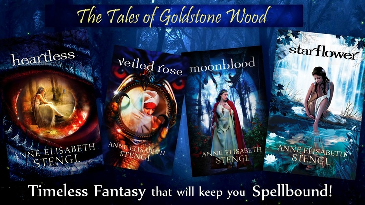 Cover art of all 4 books of the Tales of Goldstone Wood series!