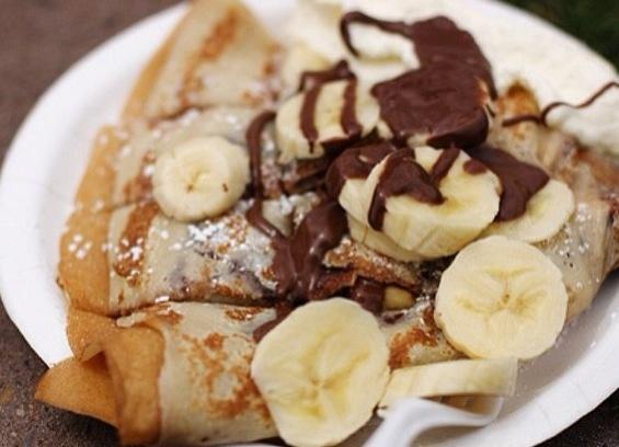 Nutella and banana crepes | Foood | Pinterest