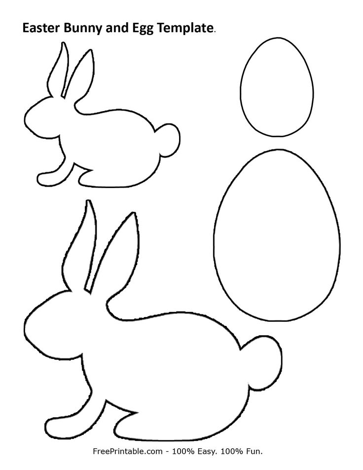 Easter bunny and egg print out kid stuff pinterest