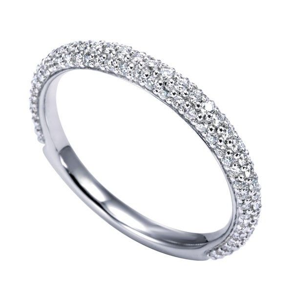 Genesis Designs WB7538W44JJ Wedding Ring 14K white gold contemporary ...
