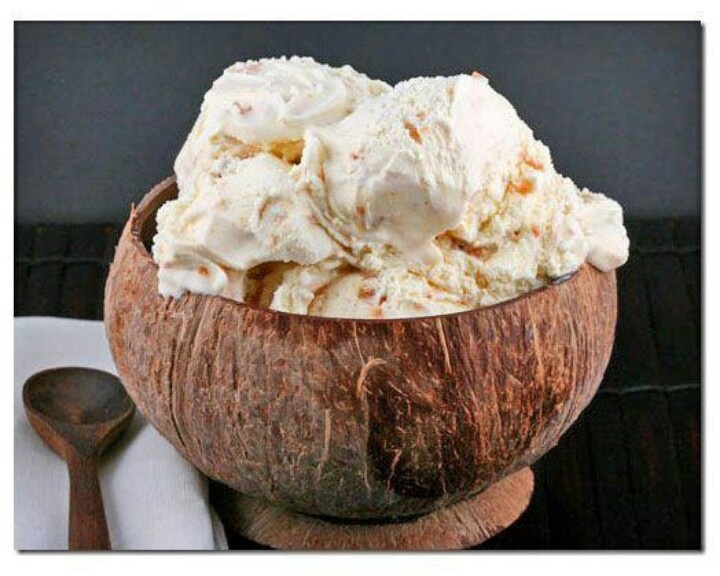 Homemade coconut ice cream. | Sweetnest is my TnT | Pinterest