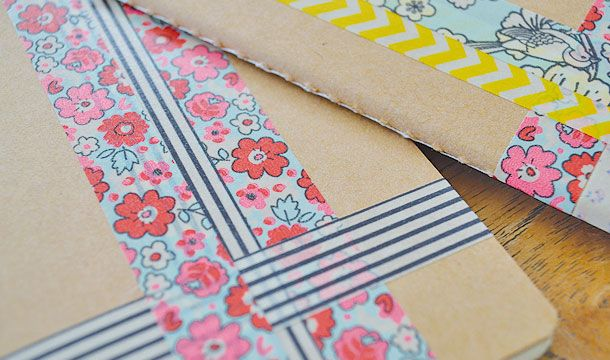 Washi Tape School / Escuela Washi Tape Notebooks