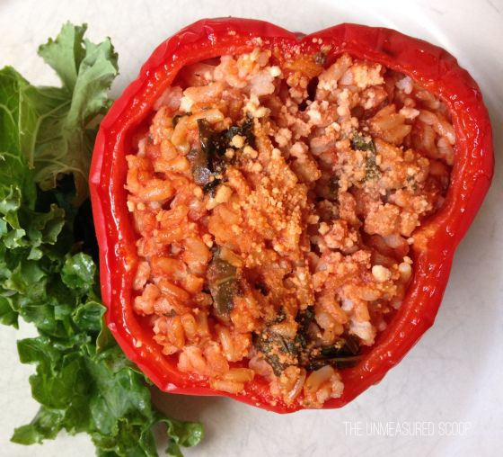 Kale & Brown Rice Stuffed Peppers | The Unmeasured Scoop