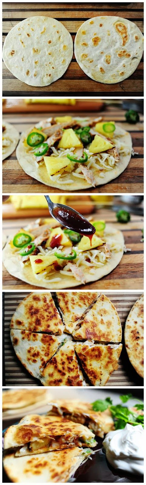 chicken quesadilla asian quesadilla with chicken zucchini hoisin sauce ...