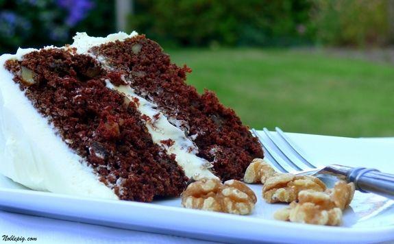 Zucchini Cake With Chocolate Cream Cheese Frosting Recipe — Dishmaps