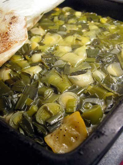Recipe: Leeks Braised with Wine and Garlic- this will need to be made ...