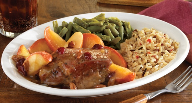 Tender pork roast braised with an apple cider glaze and baked with ...