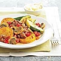Polenta-sausage Bowl | FOOD | Pinterest