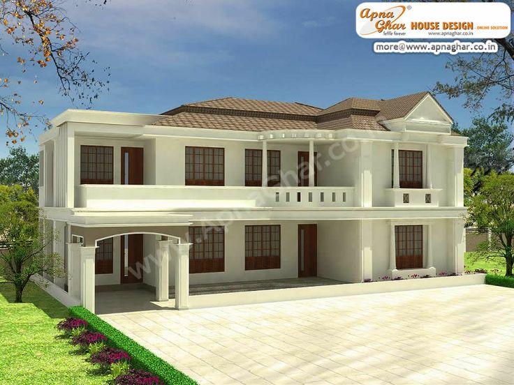 5 bedroommodern duplex 2 floor house designArea 234m2