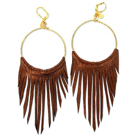 Leather fringe hoop earrings to me pinterest